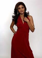 SHILPA SHETTY  - RED DRESS -  SEXY A4 SIZE GLOSSY PHOTO.