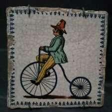 "Antique French Tile - Late 1700'S - 5"" By 5"""