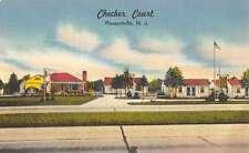 Pleasantville New Jersey Checker Court Street View Linen Antique Postcard K16811