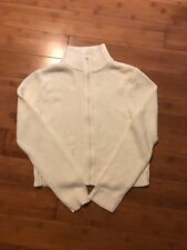 Espirit knitted unisex kids White Zip Up  cardigan /medium Size /spotless