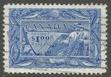 Decimal Used Single Canadian Stamps