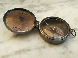 Titanic Antique Pocket Compass Vintage Marine Gift