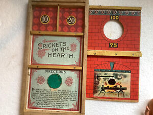 1800's Antique Crickets On The Hearth Board Game