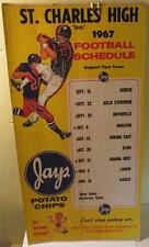 1967 St. Charles, IL High - Saints - Football Schedule Poster, Jays Potato Chips