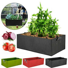 Fabric Raised Garden Bed Grow Bag Flower Potato Planter Pot Pouch Root Container