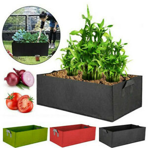 3Packs Fabric Raised Garden Bed Grow Bag Flower Planter Pot Pouch Root Container
