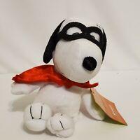 """Snoopy Plush Masked Marvel Peanuts Just Play 6"""" Seated"""