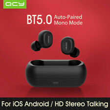 QCY T1C Wireless Earphones BT 3D Stereo Headset Earbuds with Charging box