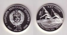 25 Lewa Silbermünze Bulgarien Olympia Barcelona 2er Kanadier 1989 (115568)
