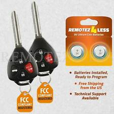 2 For 2008 2009 2010 Toyota Corolla Keyless Remote Entry Key Fob GQ4-29T