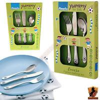 3 Pieces Amefa Footie Kids Lunch Dinner Cutlery Set Stainless Steel Boys Girls