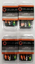 4 packs Ice fishing Jigs Assortment, Value pack 20 jigs total Walleye, Panfish