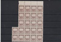 Manchukuo 1936 Part No Gum Stamps Sheet ref 21906