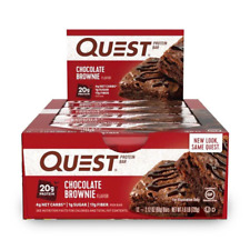 QUEST NUTRITION Chocolate Brownie Protein Bars - 12 Count
