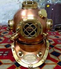 Copper Antique Diving Helmet Mark V Antique Decorative 18 Inch Diving Helmet