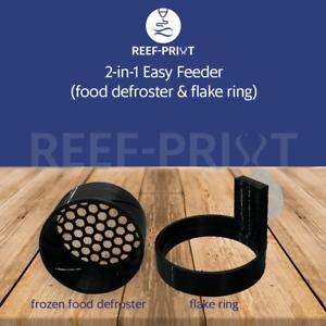 Reef-Print 2-in-1 Easy Feeder | Frozen Food Defroster | Feeder Ring