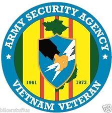 ASA ARMY SECURITY AGENCY VIETNAM VETERAN BUMPER CAR STICKER LAPTOP STICKER