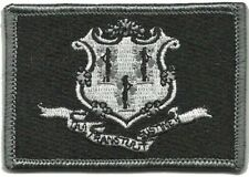 VELCRO® BRAND Hook Fastener Compatible Patches State of Connecticut BLACK 3x2""