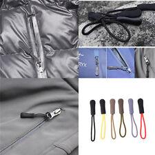 6PCS Anti-slip Long Zipper Pull Cords Slider Fastener Zip Clip Buckle for Bag