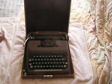 Vintage Smith Corona Clipper Portable Typewriter Green Keys