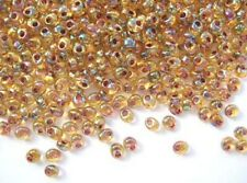 10g garnet-lined topaz AB Miyuki magatama drop beads -4 x 5mm- 1.5mm hole [2161]