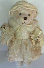 Vintage Creative Design Large Christmas Standing Plush Bear W/ Teddy Bear, gift