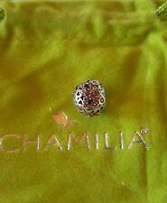 brand new chamilia  captured heart pink swarovski 2025-0680 retired