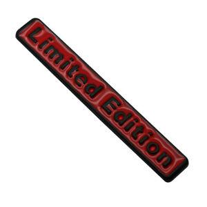 3D Metal Limited Edition Logo Car Emblem Side Fender Bumper Trunk Badge Sticker