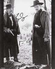 """TOMBSTONE - Kurt Russel  & Val Kilmer   AUTOGRAPHED COPY   8"""" x 10"""" B&WTOMB-06"""