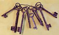 9 Ancienne clés émousser Tailles différentes serrure architecture old key