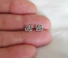 Sterling Silver 8mm Celtic shamrock hearts post stud earrings