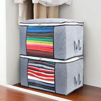 Foldable Underbed Clothes Storage Bags Ziped Organizer Boxes Wardrobe Cube Home