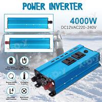 Voiture Convertisseur 3000W DC12V à AC220V LED Onduleur dc to ac Transformateur