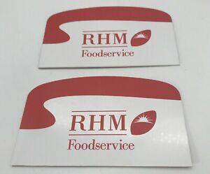 2 Vintage RHM Foodservice Catering Scrapers