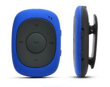 AGPtek G02 Clip 8Gb Mp3 Player Small Ultra Light Fm Function Blue Radio