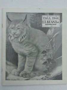 Vintage 1944 Fall Catalog by L.L. Bean of Freeport Maine, Outdoor Gear