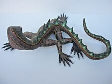OAXACA WOOD CARVING GORGEUS IGUANA  MEXICAN FOLK ART