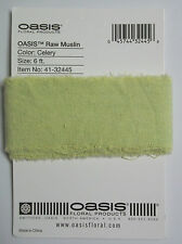 6 Feet of Raw Muslin Color Celery 1-3/4 In wide New on Card