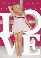 Shirley of Hollywood French Satin and Chiffon Babydoll, Plus Size