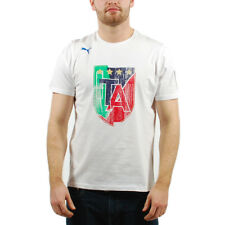 Men's PUMA Italia Italy Italian Football Federation T-Shirt White sz S (T14) $34