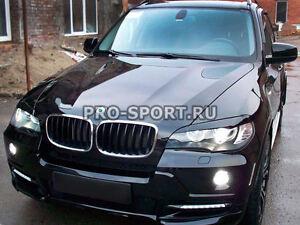 BMW X5 E70 2007 2008 2009 2010-2013 eye brow, eyelids, cilia head lights, pair