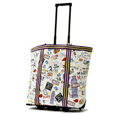 """Olympia RS-310-CT """"Cosmopolitan"""" Rolling Shopper Tote - City New"""