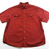 Cabela's Adult XL Short Sleeve Casual Nature Outdoor Hiking Button Up Shirt Mens