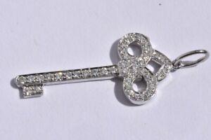 Tiffany & Co Platinum Fleur De Lis Diamond Key