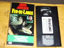 Fer-De-Lance (VHS, 1989) David Janssen, Terror Strikes Action