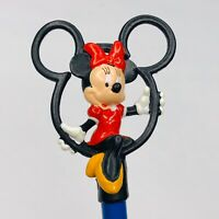 Vintage Applause Disney Sitting Minnie Mouse Pvc Topper + Unused Pencil Blue