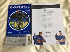 Chelsea v Tottenham 1 April 2018 Programme, Away Ticket Stub & Team Sheet (3of4)