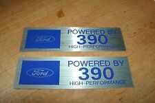 FORD POWERED BY 390 HIGH PERFORMANCE VALVE COVER DECALS FAIRLANE MUSTANG TORINO