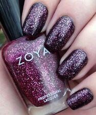 Zoya Professional Lacquer Nail Polish NOVA ~ SHEER MAGENTA  PINK SILVER GLITTER