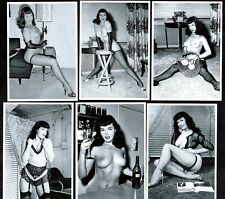 Bettie Page At Home Postcard Set Pin-Up Girl Nylon Stockings Erotic Betty Sexy